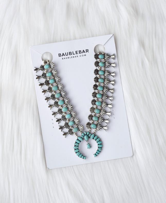 BaubleBar Turquoise Capulet Necklace