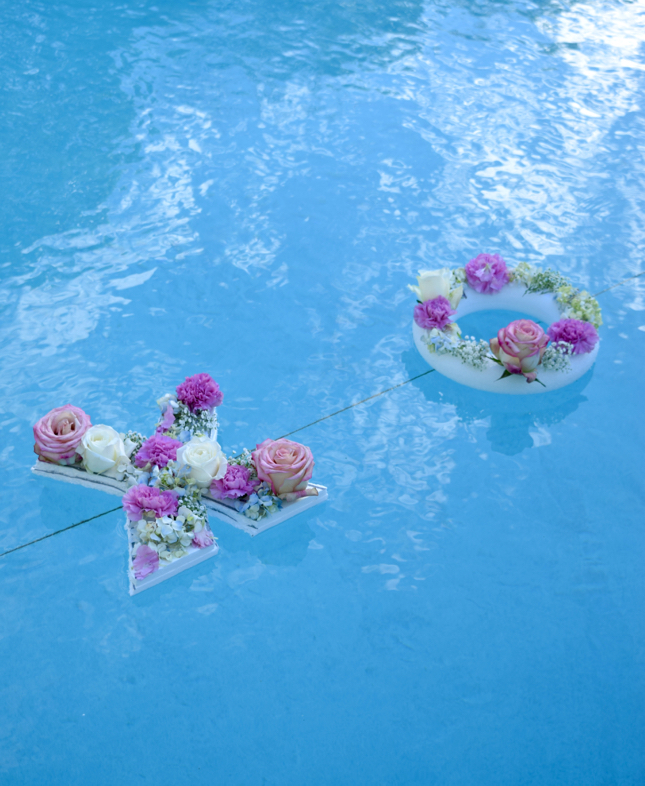 DIY Flower Floating Letters