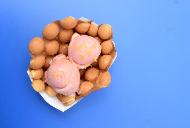 Egg Waffle Cone Ice Cream