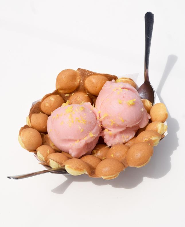 Egg Waffle Ice Cream Cone
