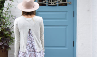 Open Back Layered Pastel Sweater