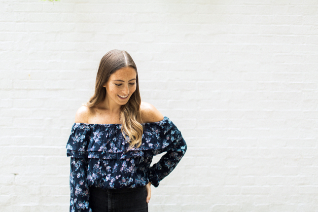 Chicago Fashion Blogger Off The Shoulder Top