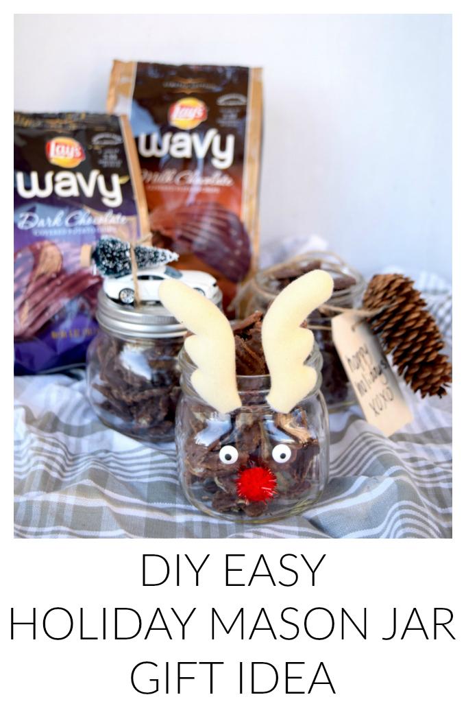 DIY Easy Holiday Mason Jar Gift Idea