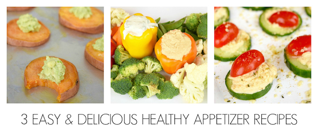3 easy and delicious healthy appetizer recipes