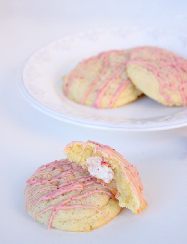 Candy Cane Stuffed Sugar Cookies