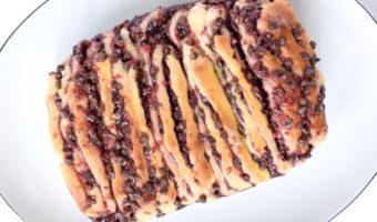 chocolate raspberry pull apart bread