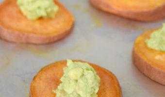sweet potato avocado toast bites