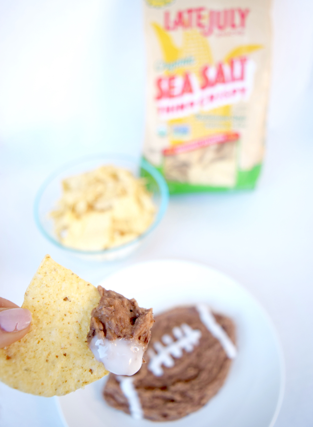 Football Bean Dip Recipe