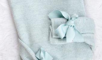 Topshop Tie Sleeve Sweater