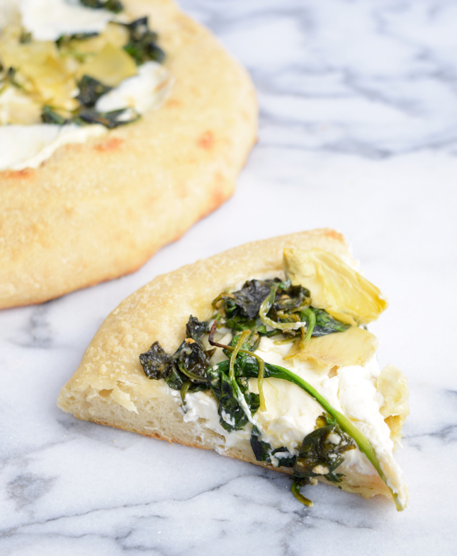 recipe for spinach and artichoke pizza