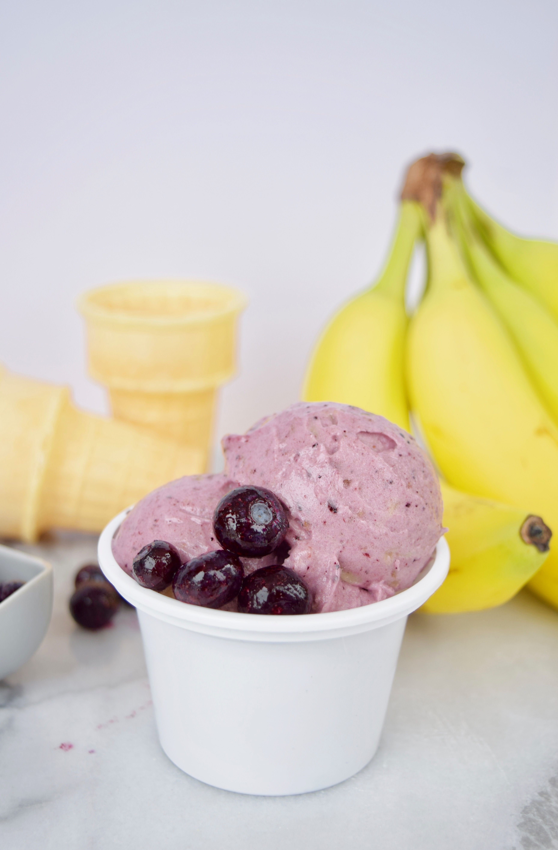 Blueberry Banana Nice Cream Recipe