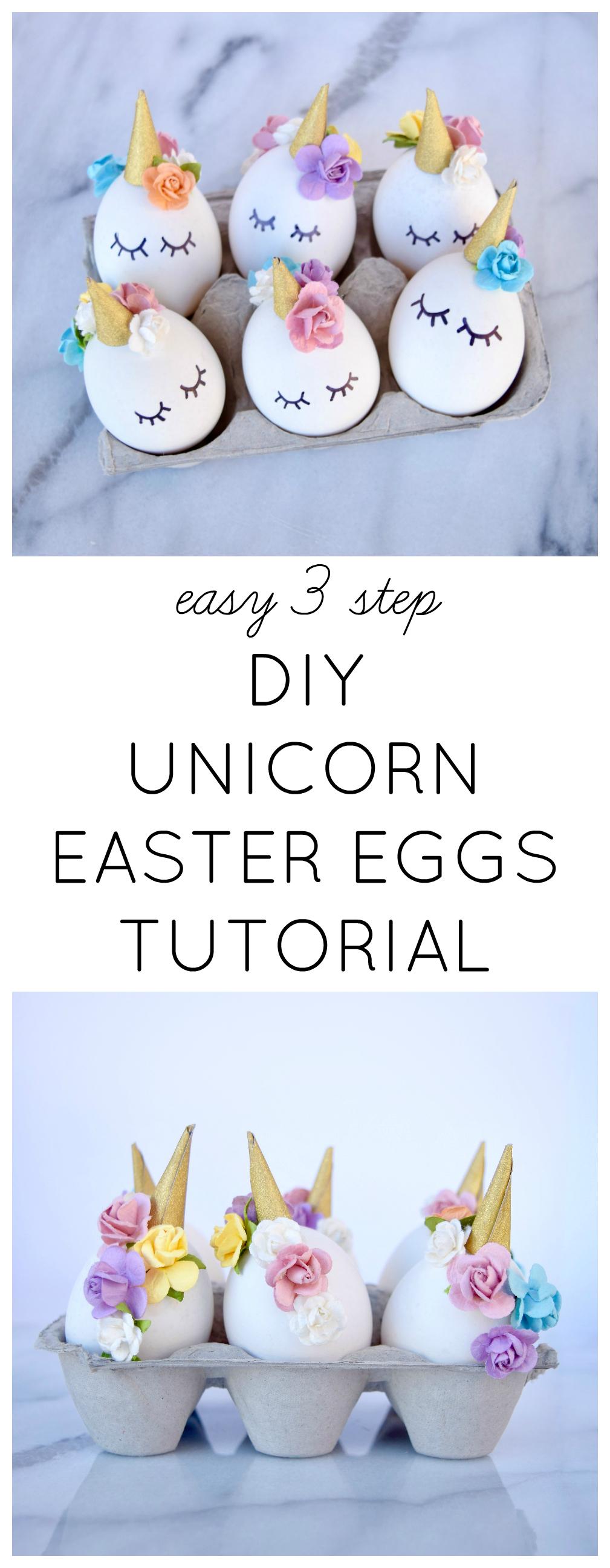 EASY 3 STEP DIY UNICORN EASTER EGGS TUTORIAL