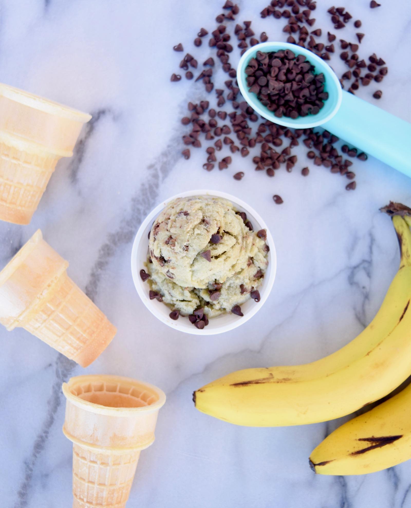 Mint Chocoalte Chip Banana Ice Cream Recipe