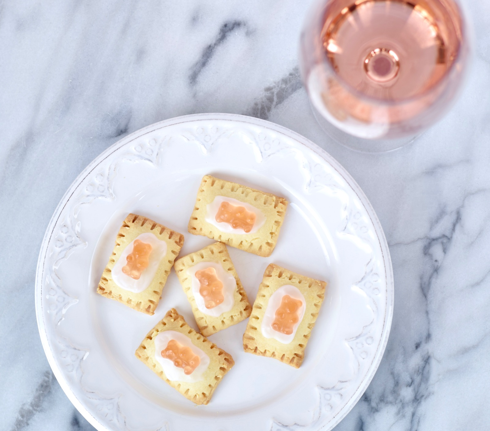 Mini Rosé Gummy Bear Pop Tarts