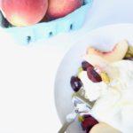 Peach, Burrata, Pistachio, & Cherry Salad Recipe