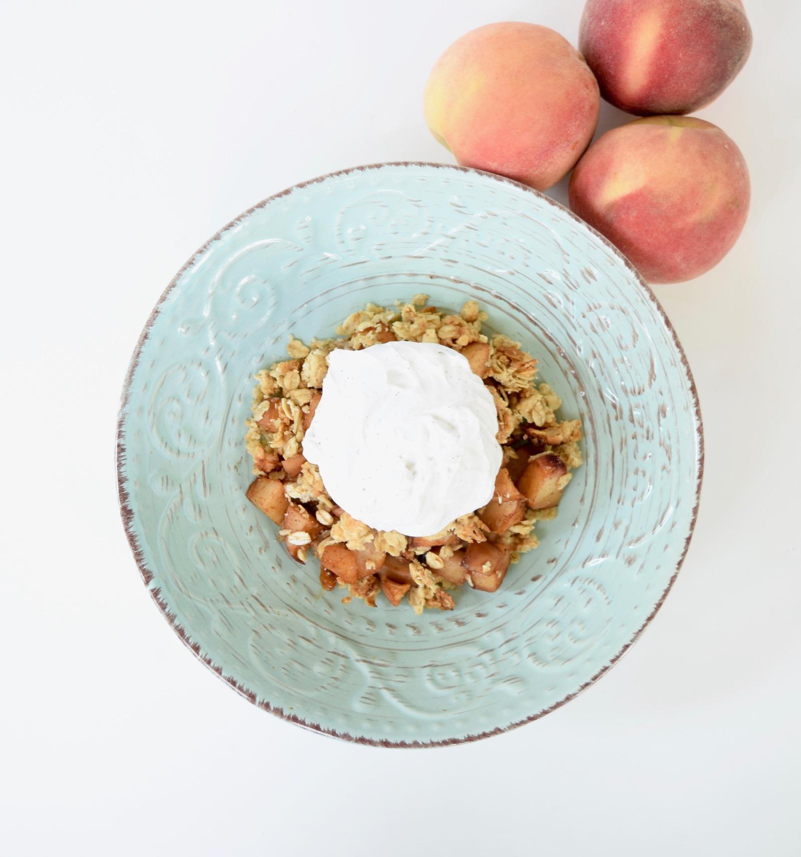 healthy peach crumble recipe