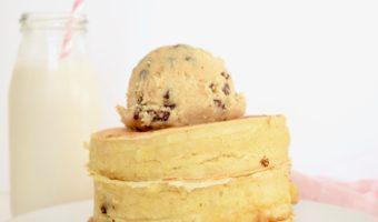 Cookie Dough Stuffed Pancakes