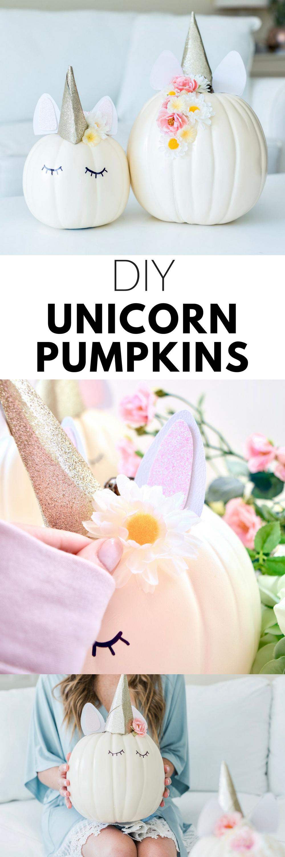 DIY Unicorn Pumpkins Tutorial