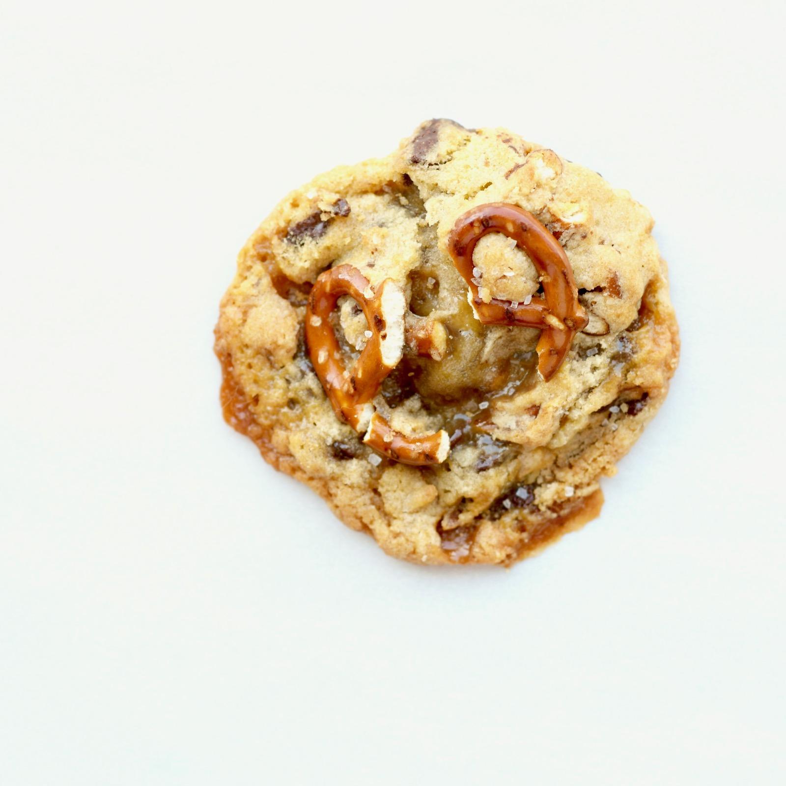 Salted Pretzel Chocolate Chip Cookie