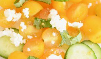 simple salad recipe tomato feta cucumber