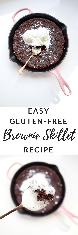 Easy Gluten Free Brownie Skillet Recipe