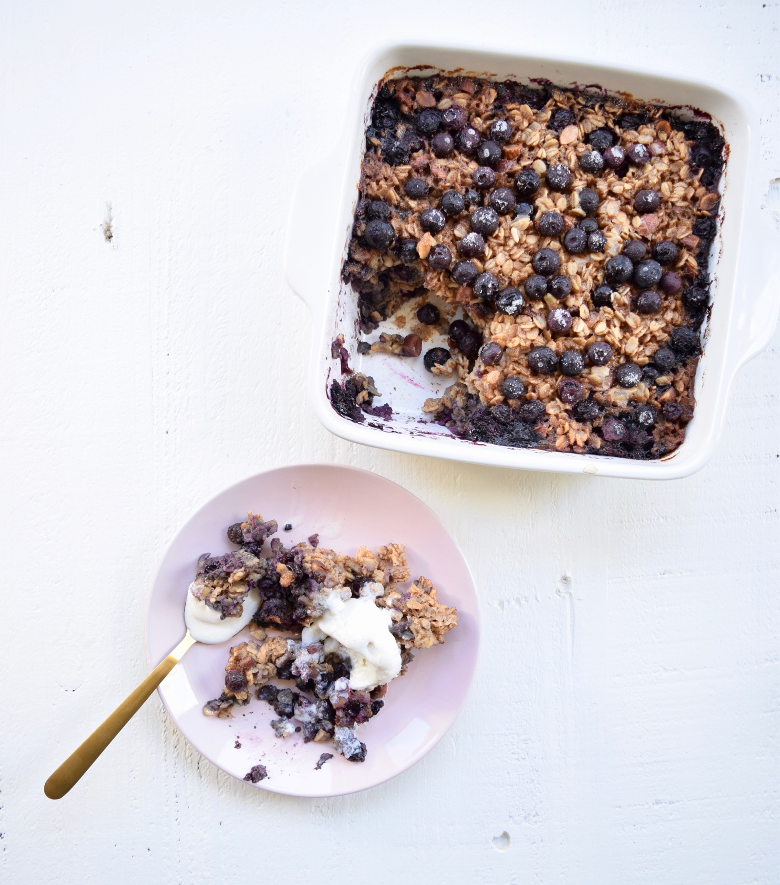 Baked Blueberry Oatmeal Recipe