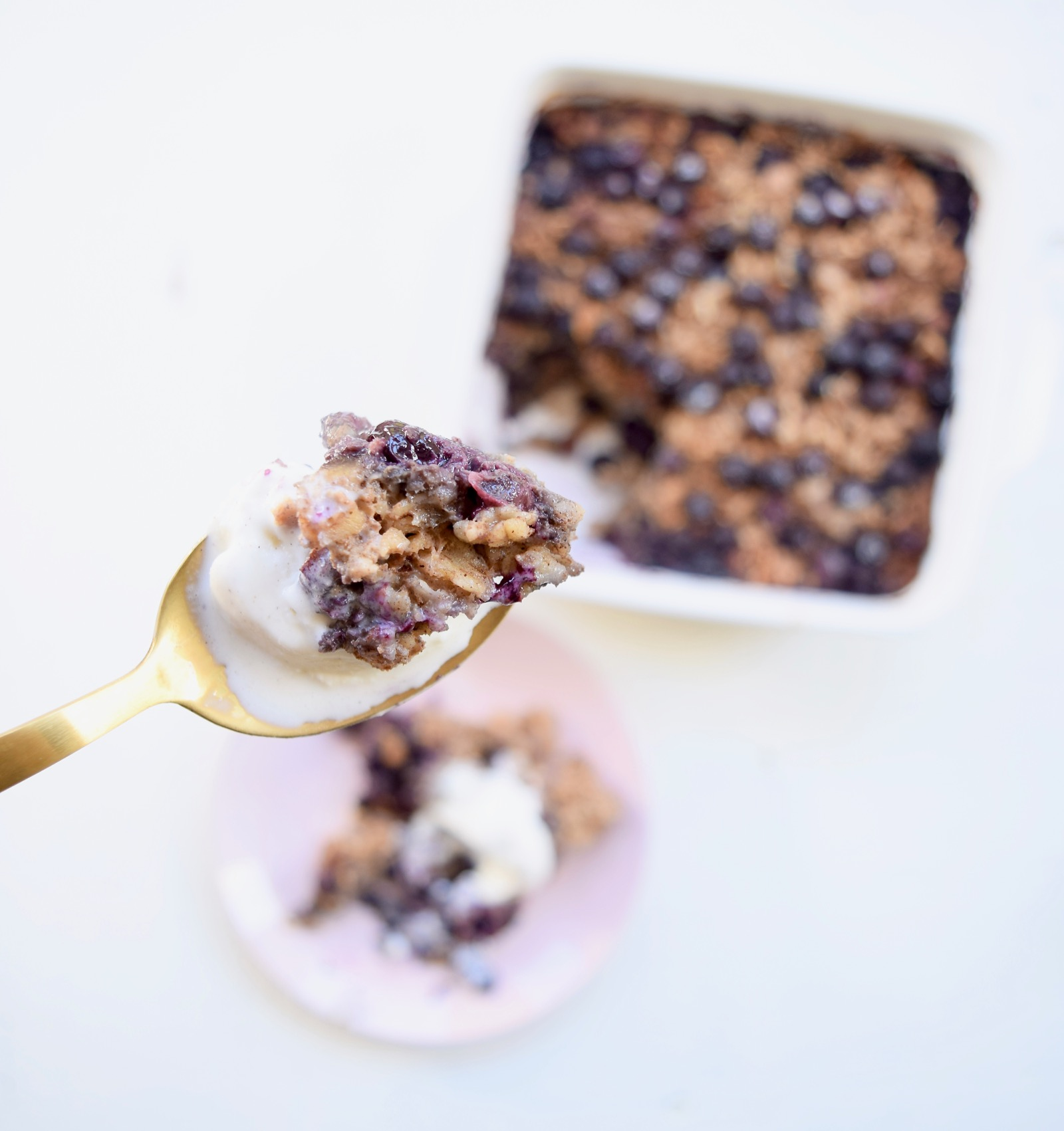 Baked Oatmeal Recipe with Blueberries