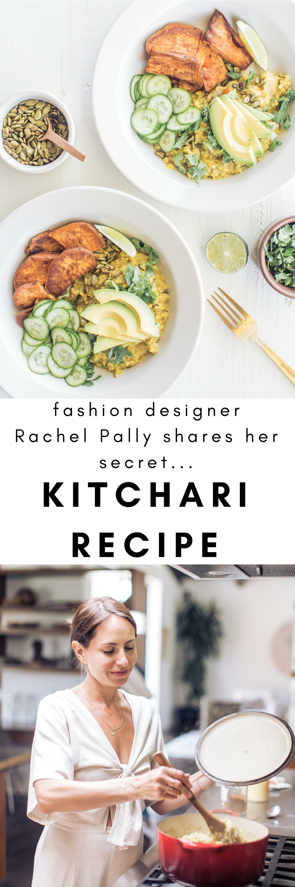 in the kitchen with fashion designer Rachel Pally