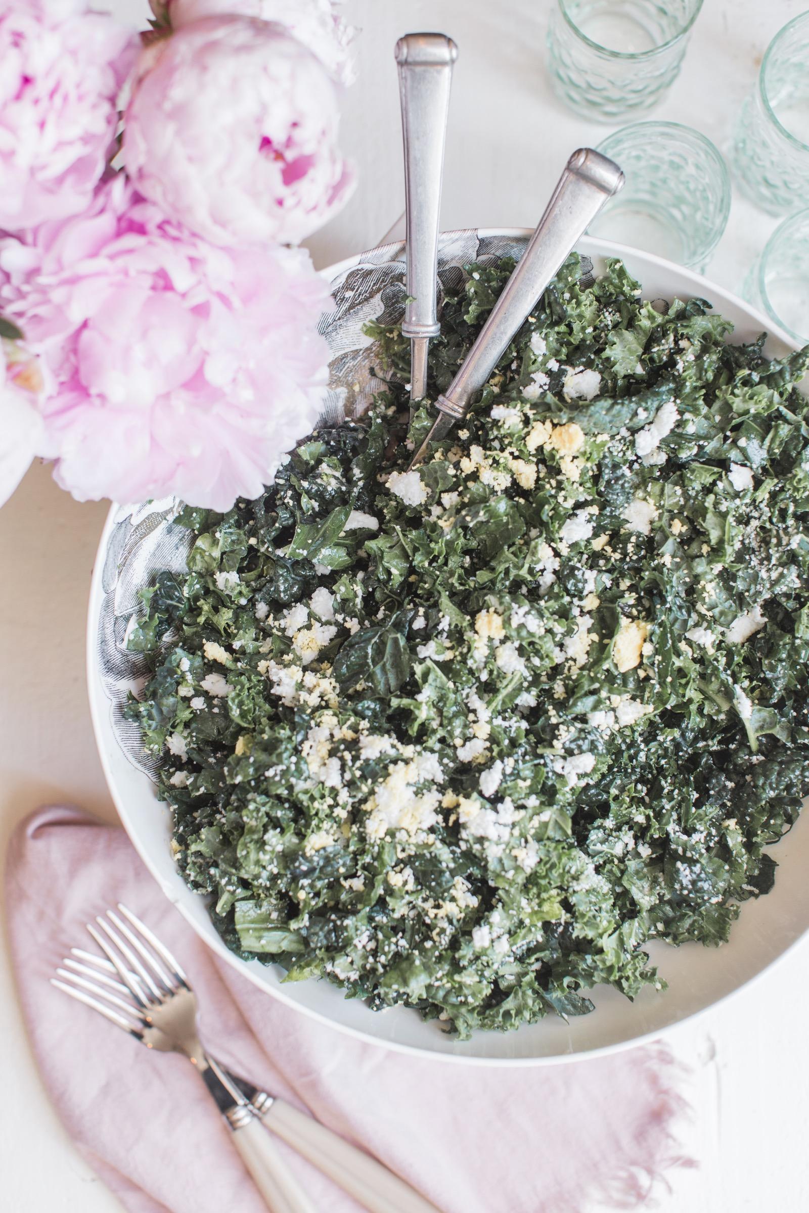 One Kings Lane Recipe Kale Caesar Slaw