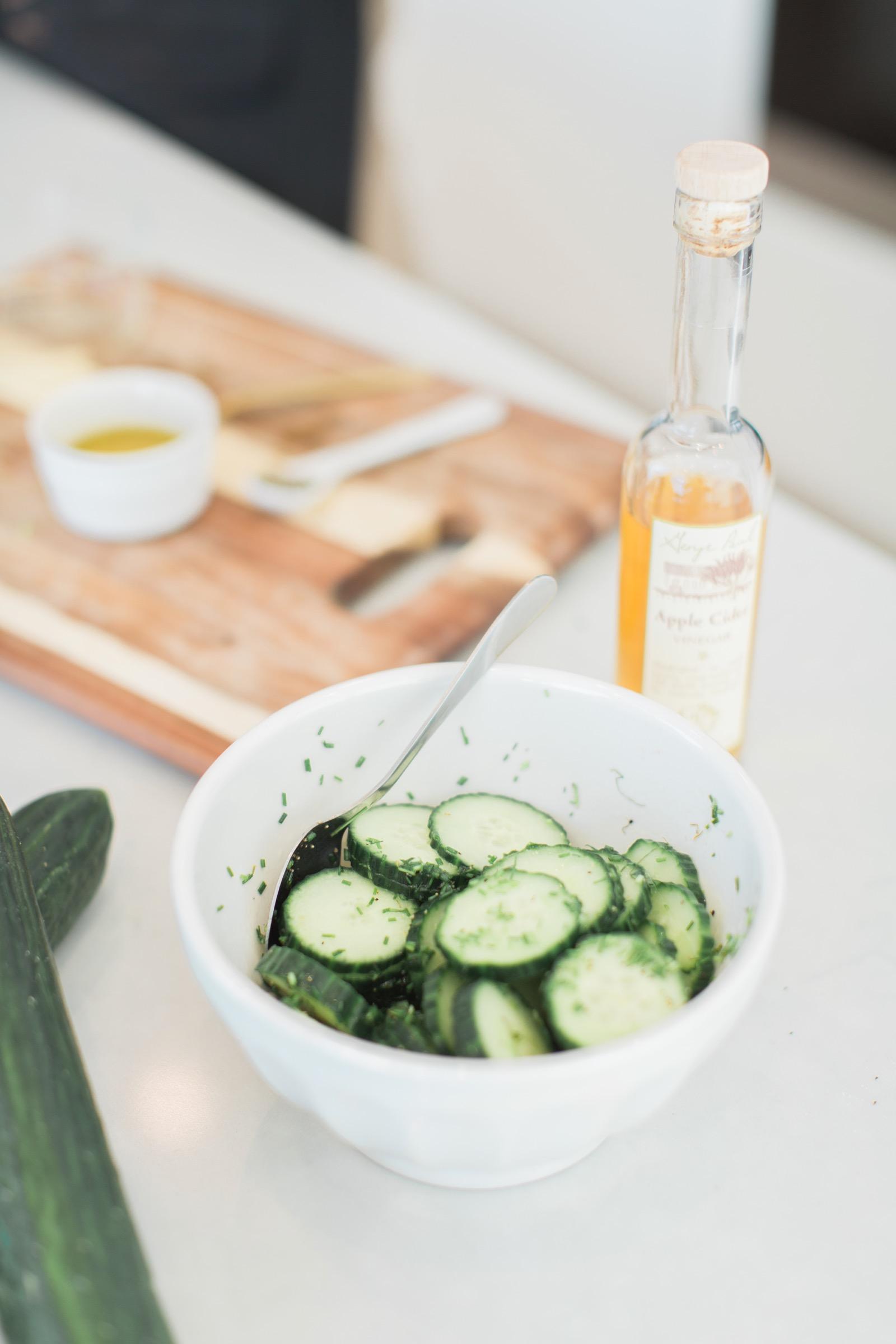 Sweet Apple Cider Vinegar Cucumber Salad Recipe