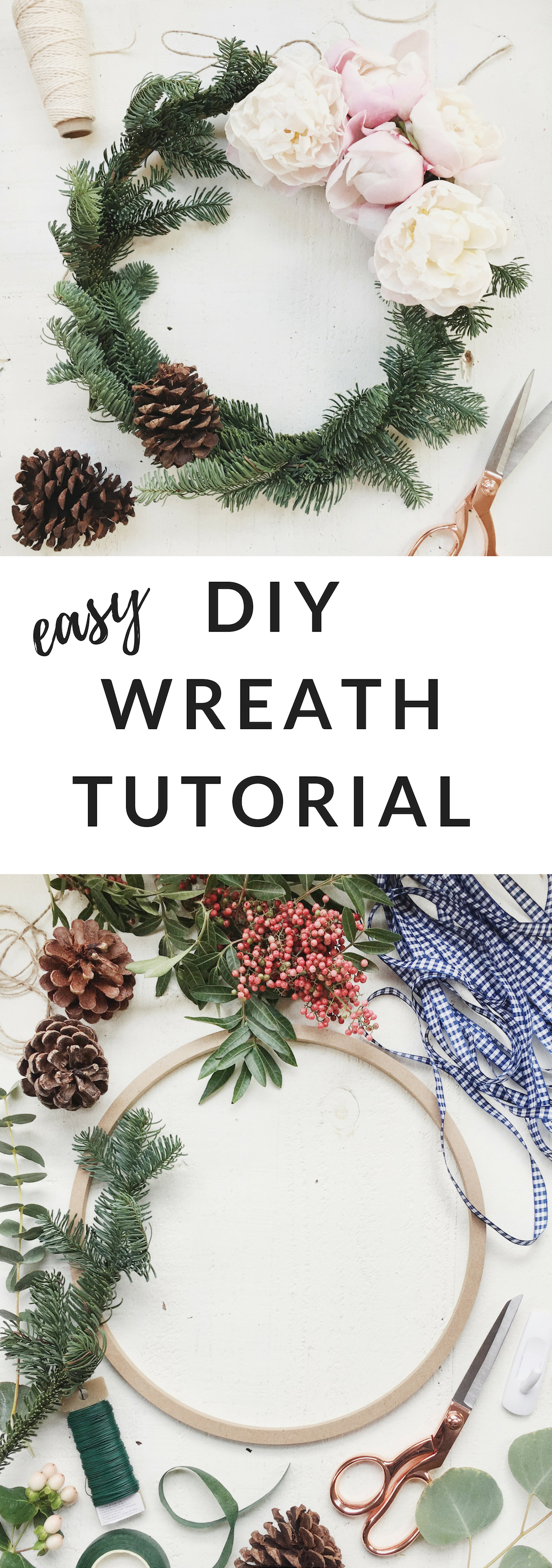 DIY Holiday Wreath Tutorial