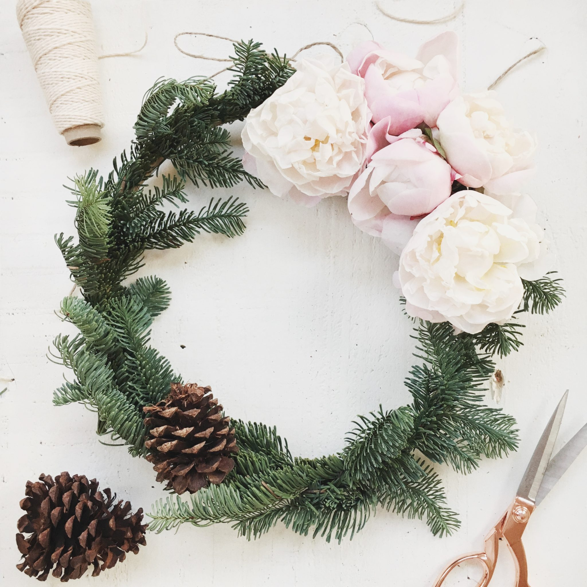 DIY Peony Wreath Tutorial
