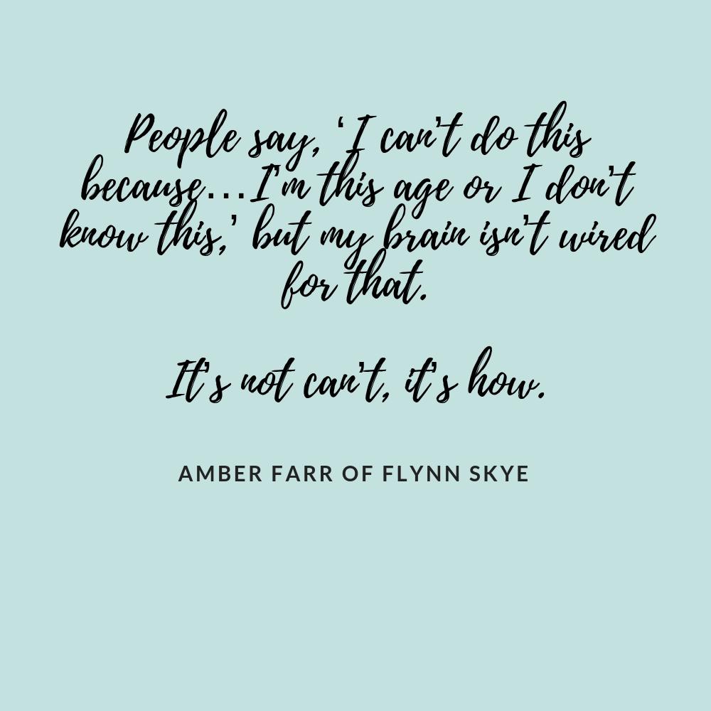 Flynn Skye Interview Quote