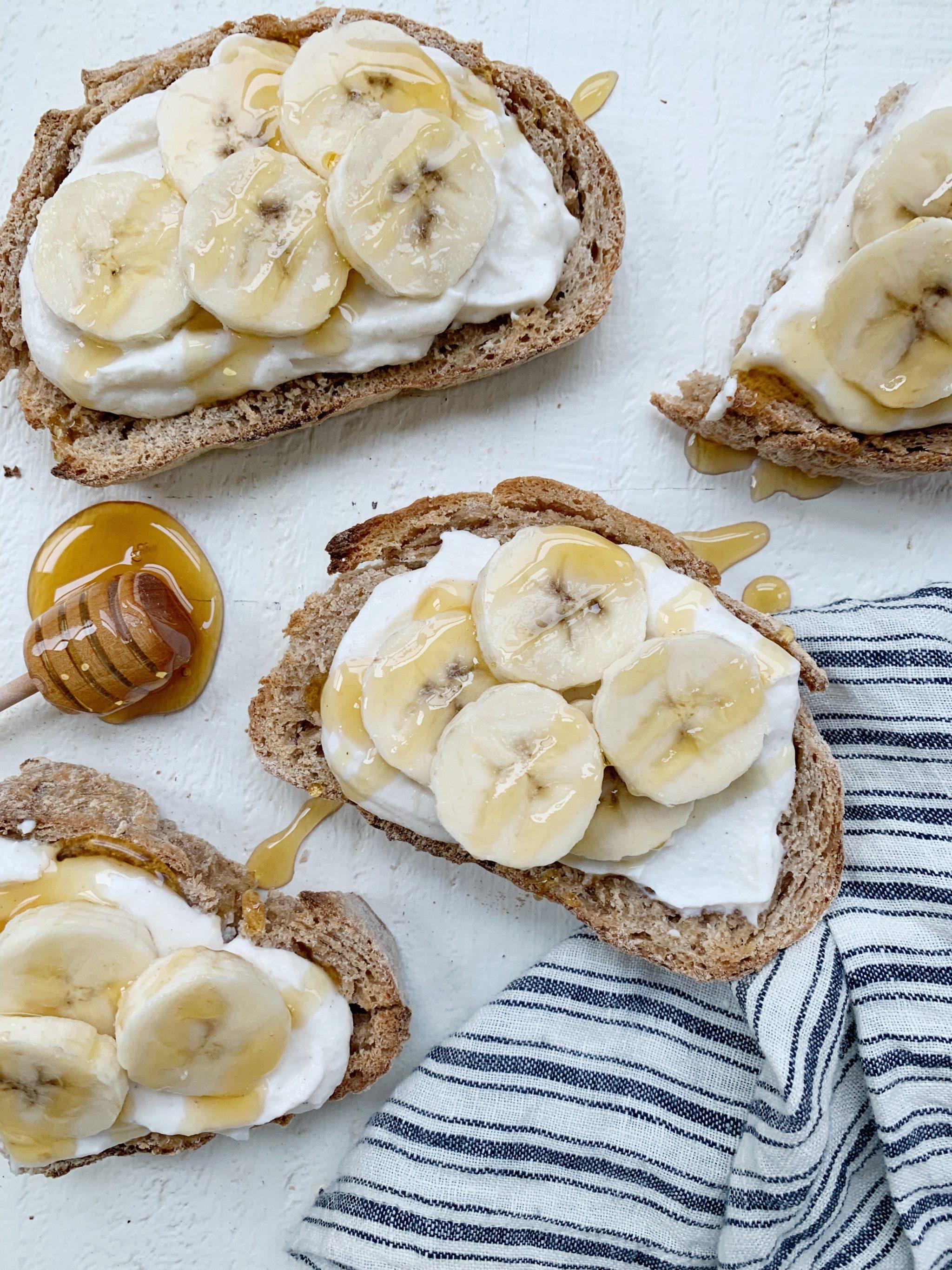 Whipped Ricootta Banana Toast Recipe