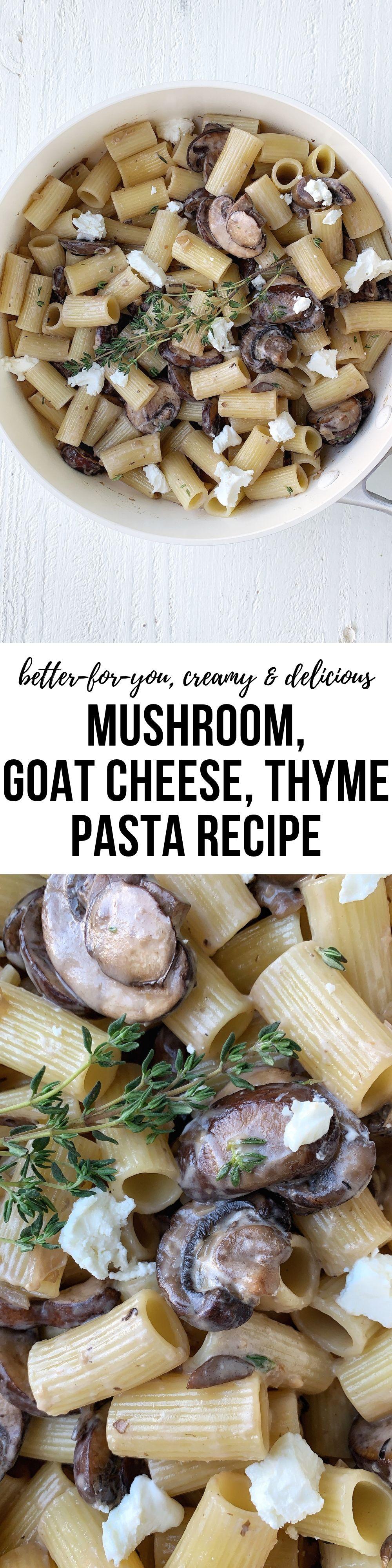 creamy goat cheese pasta recipe