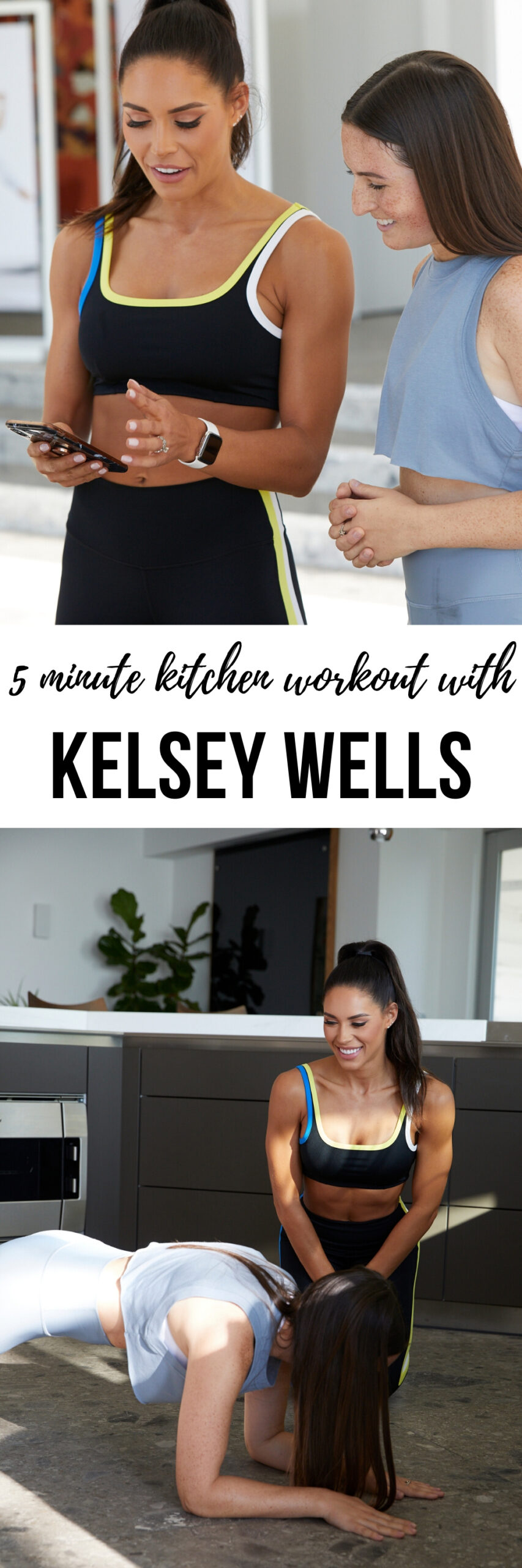 kitchen workout with kelsey wells