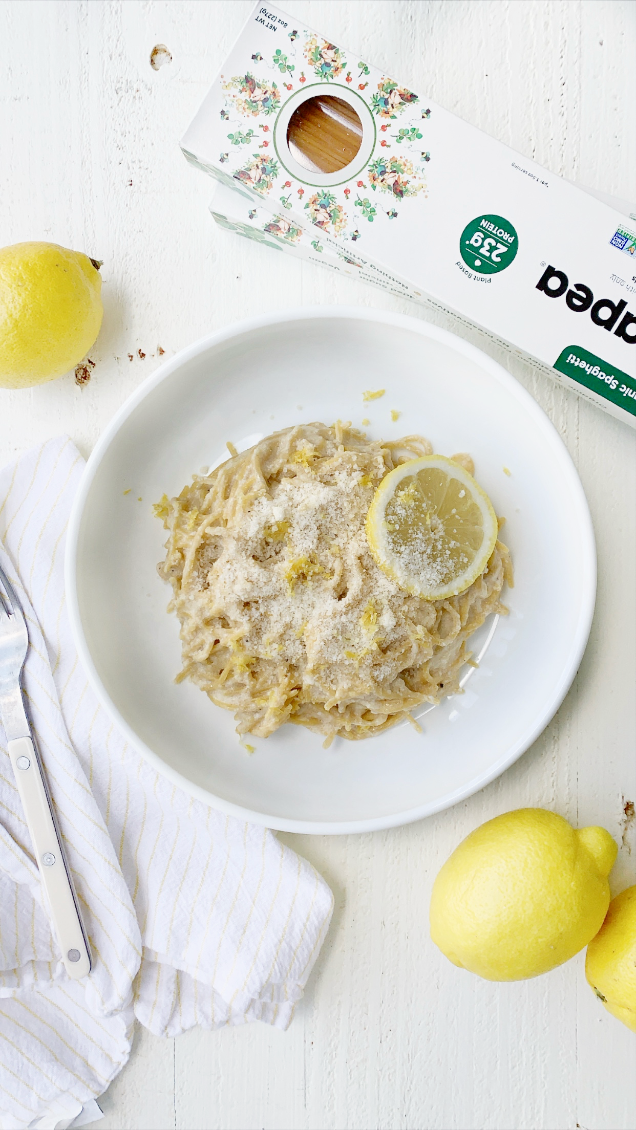 BETTER-FOR-YOU PASTA LIMONE RECIPE