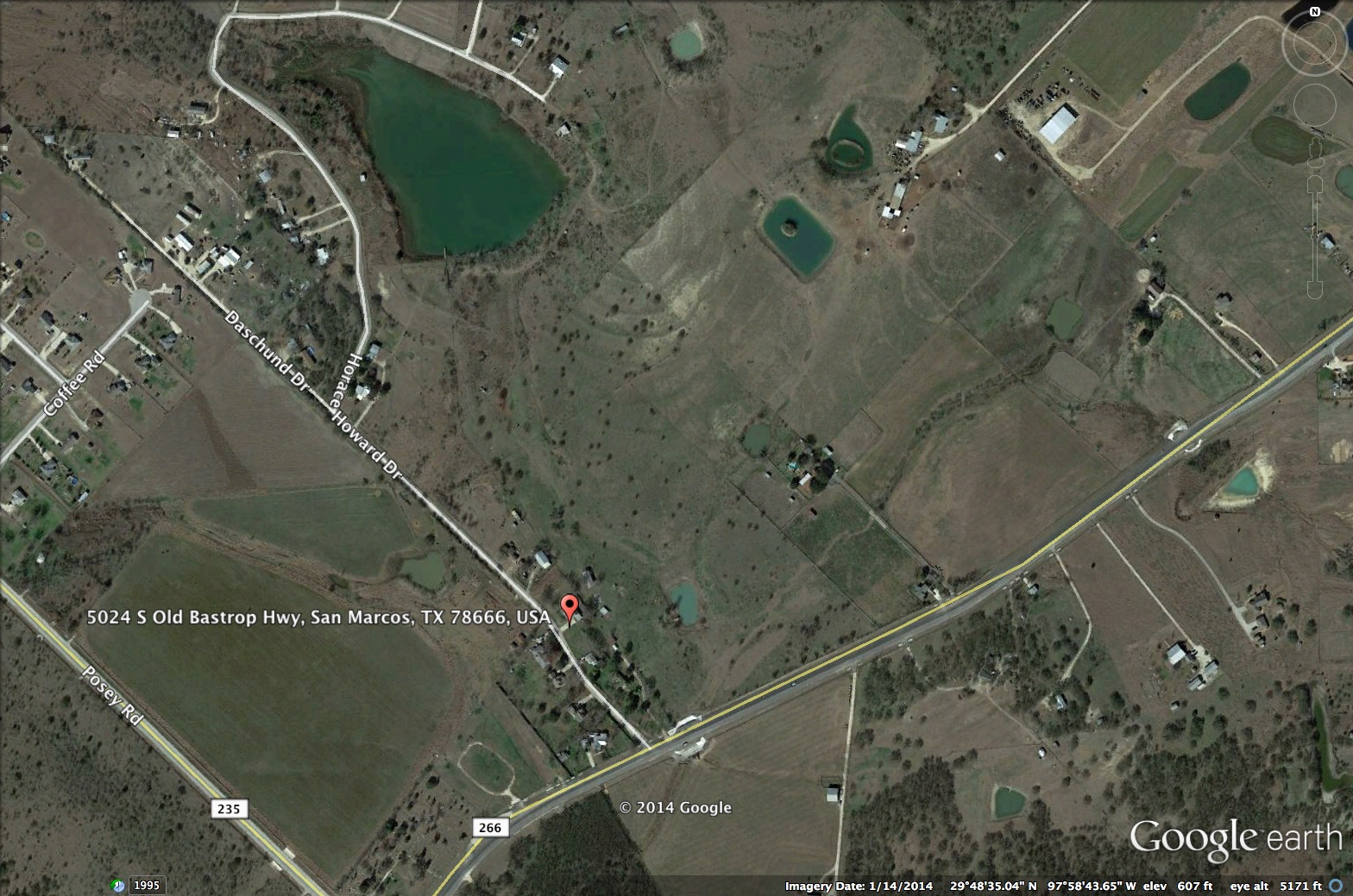 Overhead view of The Lodges at Parker's Pond