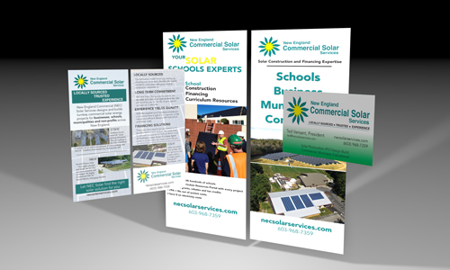 New England Commercial Solar Services brochure design, EVP Marketing and Media in New Hampshire