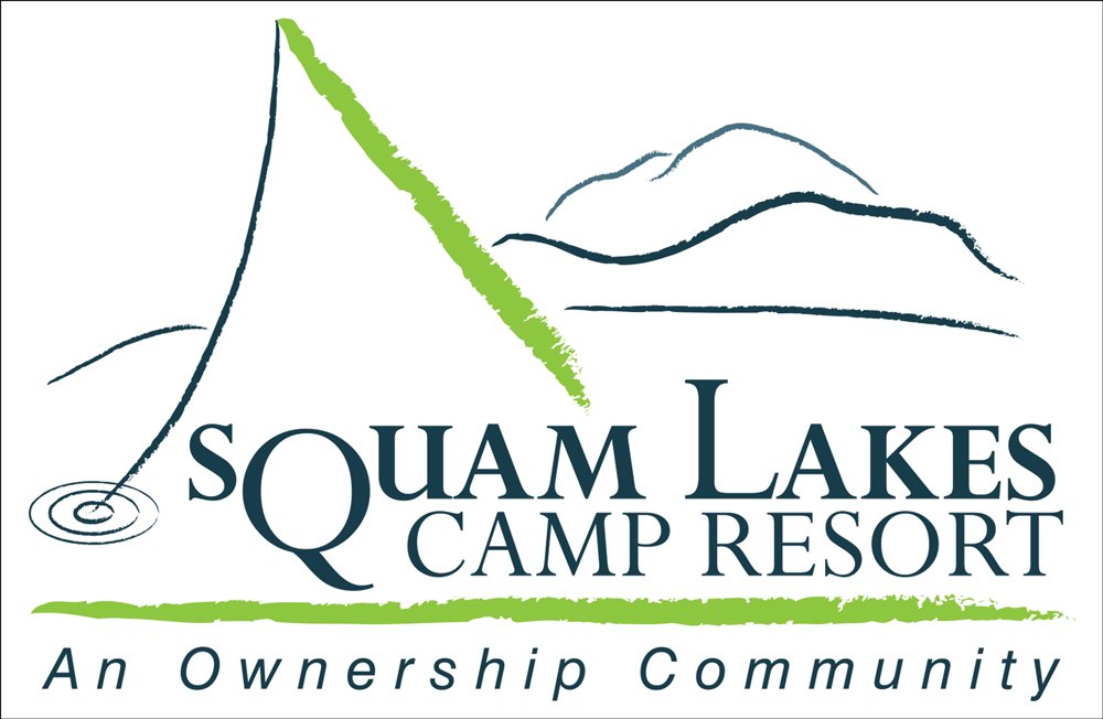 Squam Lakes Camp Resort logo design by EVP Marketing and Media in New Hampshire