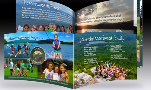 Brand book for Camp Merriwood in New Hampshire