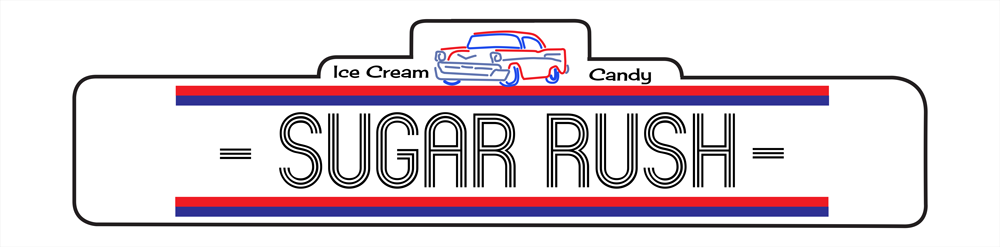 Sugar Rush ice cream store logo in Waterville Valley, New Hampshire