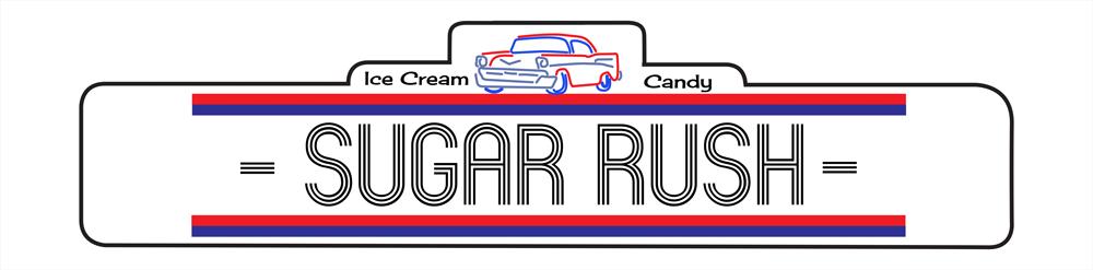 Sugar Rush ice cream store logo in Waterville Valley, New Hampshire