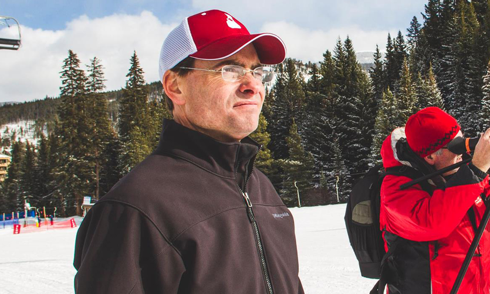 Don Hyde directing event video production in Breckenridge, Colorado for Disabled Sports USA