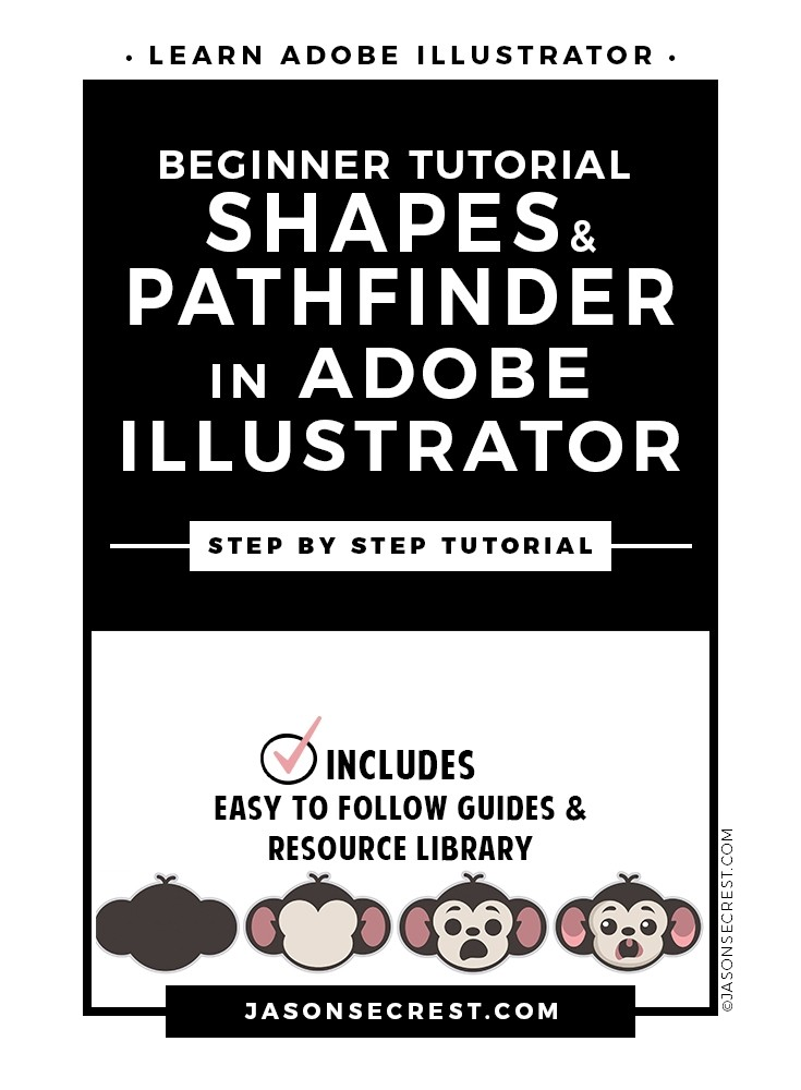 Beginner Illustrator Tutorial using Shapes Pathfinder