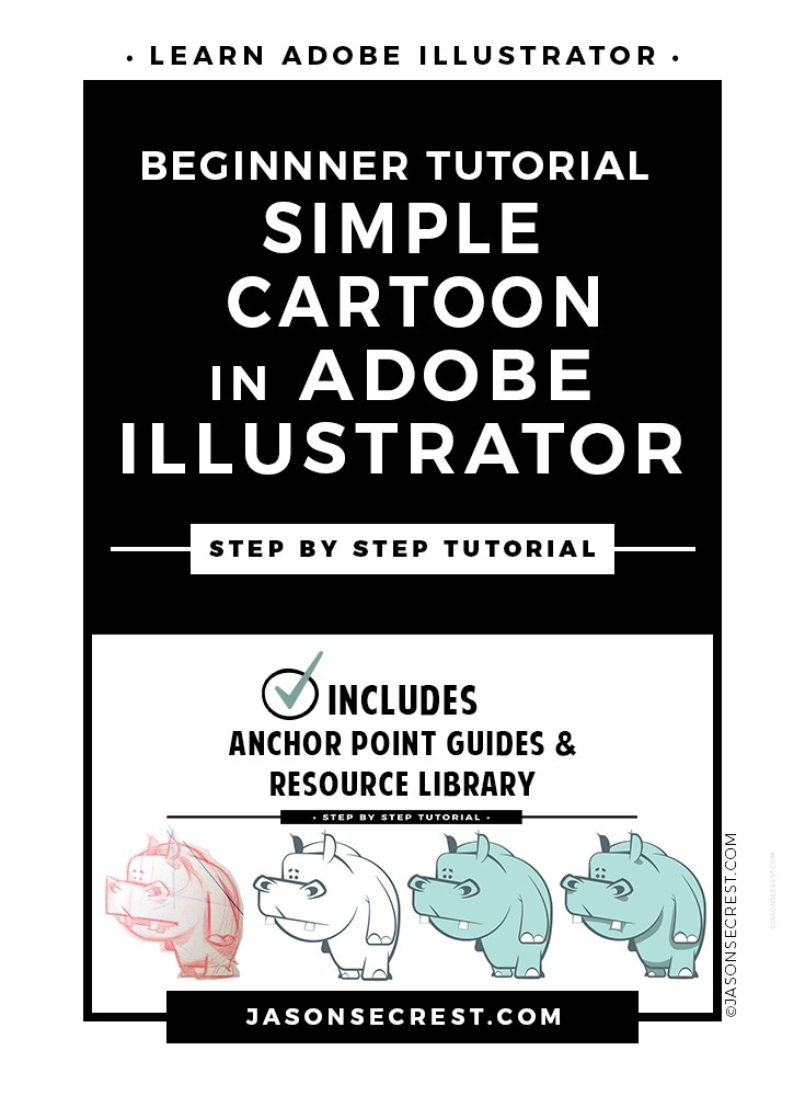 Adobe Illustrator Simple Cartoon Tutorial