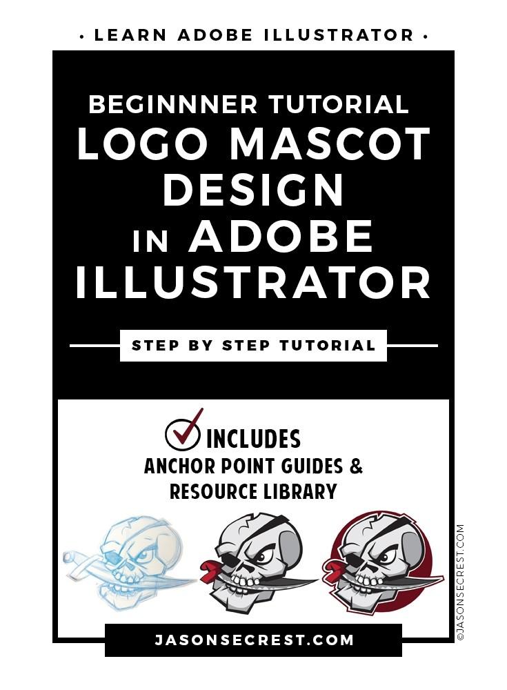 Beginner Illustrator Tutorial Logo Mascot Design