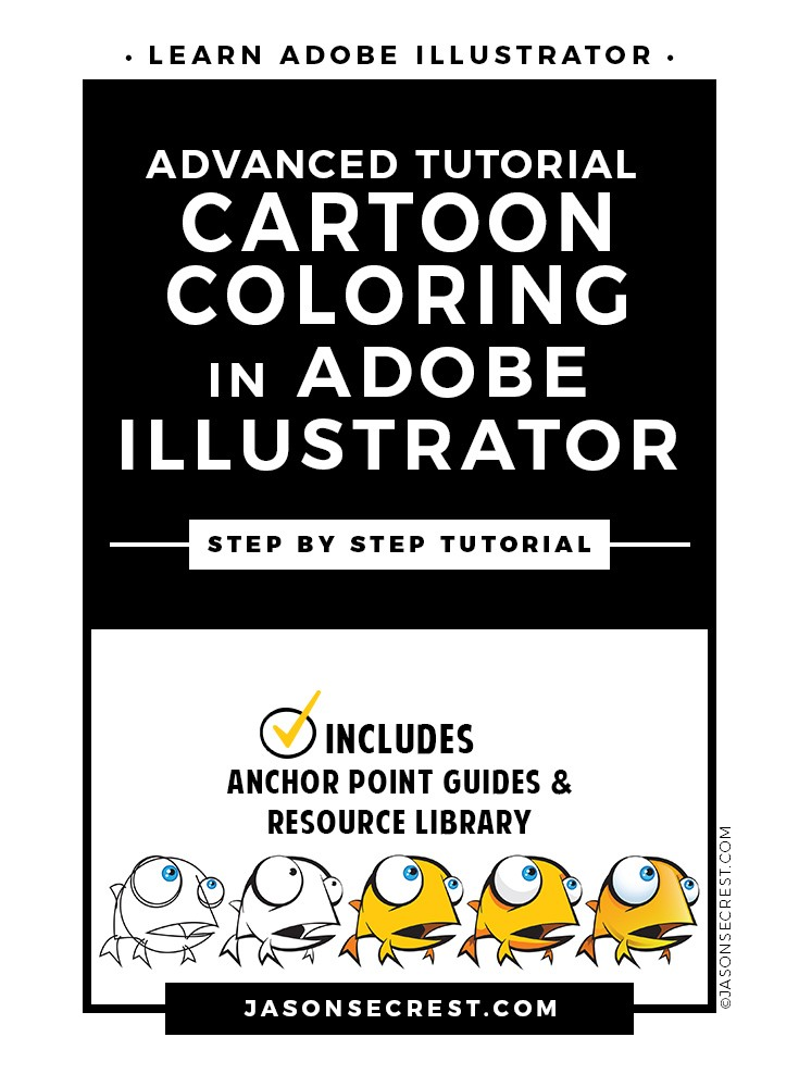 Advanced Illustrator Cartoon Coloring Tutorial