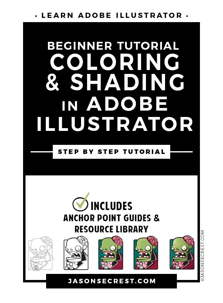 Beginner Illustrator Tutorial Coloring Shading