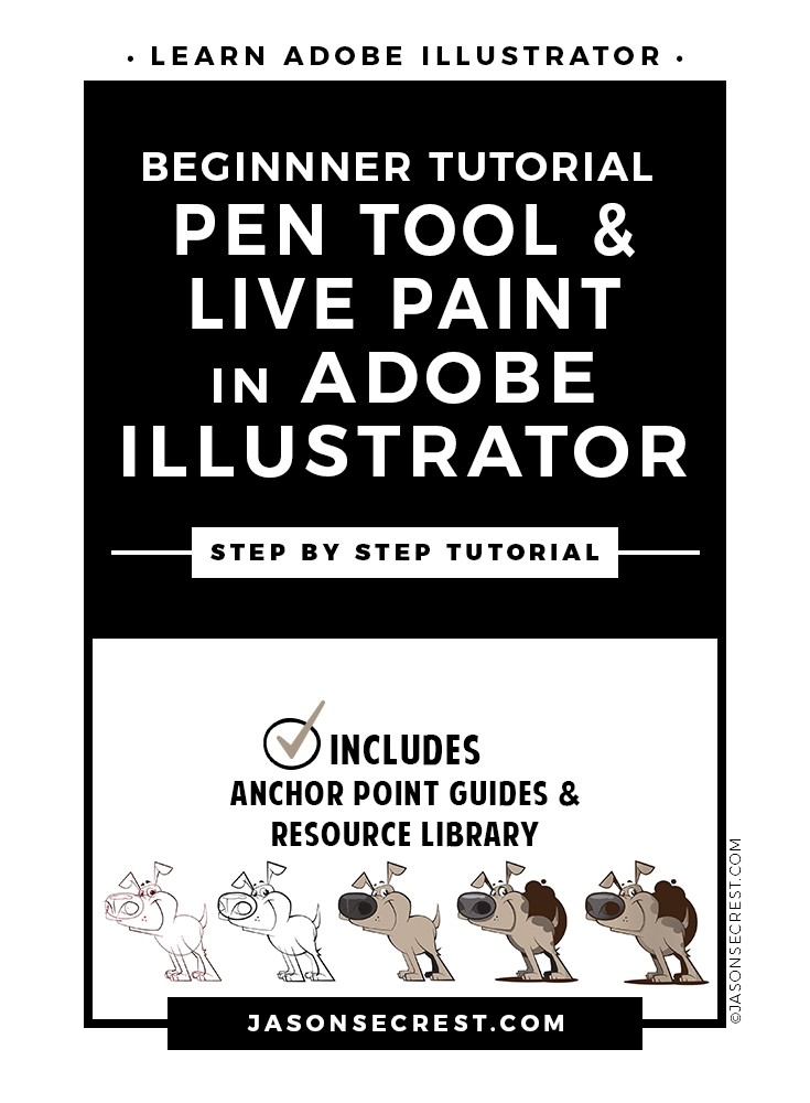 Illustrator Cartoon Tutorial using Pen Tool and Live Paint